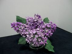 Lilacs created out of sugar!  They look real but this is sugar work.