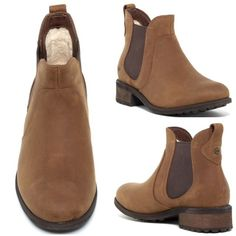 """New UGG Leater Bonham Boots - Chestnut These unworn, weather resistant, full-grain leather boots feature UGGpure wool lining for comfort and warmth. These boots also feature elastic goring on each side for easy slip on/off. Boot shaft measures 5"""" and heel height is 1.5"""" No trades. UGG Shoes Ankle Boots & Booties"""
