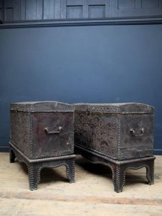 A Pair of 18th Century Leather Chests, Decorative Antiques, Drew Pritchard
