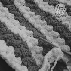 The Marshmallow Crochet Baby Blanket is a nice fluffy baby blanket with lots of texture. Make it striped or solid. Size is perfect for carrier or stroller.