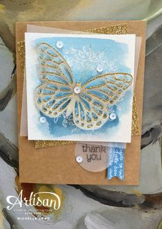 Artisan blog Hop March 30th - SU - Circle of Spring, Butterfly Basics Bundle - Thank You