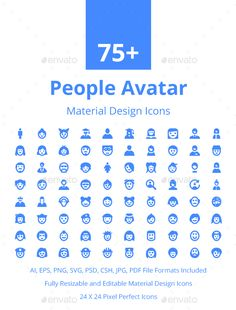 75+ People Avatar Material Icons. Download here…