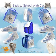 Cat and water backpack, shoes. High and low top sneakers. FREE Shipping. Buy on http://www.artsadd.com/store/erikakaisersot?rf=11001