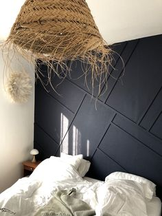 Home Decor Ideas Plants .Home Decor Ideas Plants Bedroom Wallpaper Accent Wall, Office Wallpaper, Home Bedroom, Bedroom Decor, Master Bedroom, Black Feature Wall, Black Accent Walls, Feature Wall Bedroom, Simple Bed