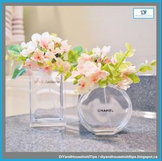 DIY And Household Tips: Turn Old Perfume Bottles Into Vases