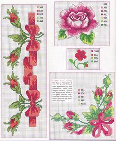 Roses, corner, border