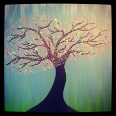 Parents bought me new paintbrushes so I painted. Crazy little tree