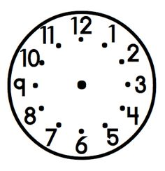 Use for the clock lapbook. Clock Pattern    What the Teacher Wants!: I spy... {time}