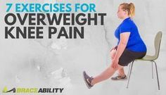 Overweight or obese and wondering how to exercise with sore knees? Check out BraceAbility's blog and learn about the best and worst exercises for bad knees, including 7 super easy and convenient knee pain relief exercises that can be done at home or even during a break at the office!