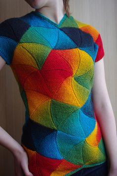 Ravelry: vi-lena's Palytra - I wouldn't be caught dead WEARING this, but I must admit, it is a superb piece of knitting!