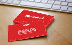 Santa business cards