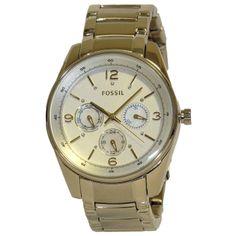 Fossil BQ1071 Women's Multifunctional Analog Gold-Tone Watch Steel Bracelet  http://lyumax.com/category/fossil/catId=4046238  #Fossil #fossilwatch #wristwatch #ladies #ladieswatch #ladieswatches #gift #forher #analog #accessories #women #silvertone #silver #mop #motherofpearl #roundwatch #steel #stainlesssteel #prettywatch #watchaddict #watchlovers #crystals #sparklewatch #classicwatch #classicwatches