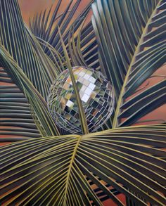 TRÓPICO GEOMÉTRICO.  Pintura, Óleo/tela, 100 x 120 cm. Jorge Luna. (pintor mexicano).
