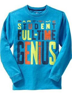 Boys Graphic Long-Sleeve Tees