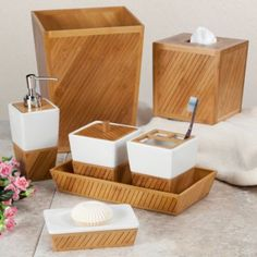 Buy Bamboo Spa Toothbrush Holder From Bed Bath U0026 Beyond