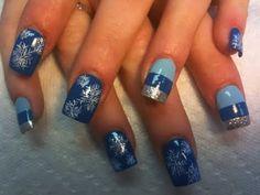 Snow design on the dark blue background!