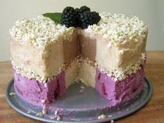 ultimate raw ice cream cake challenge: pearberry bliss