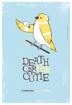 Death Cab For Cutie Gig Poster #illustration #typography