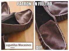 Patron Zapatillas Mocasines de Fieltro