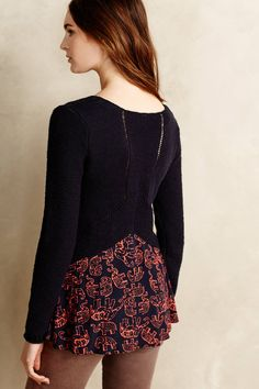 Jungle Ruffle Pullover - anthropologie.com