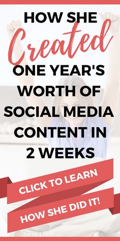 If creating social media content overwhelms you, then you have to read this post! Christina shares her process for how she created an entire year's worth of social media content for multiple social media channels in just 2 weeks! This process will work to Facebook Marketing, Content Marketing, Online Marketing, Social Media Marketing, Digital Marketing, Marketing Ideas, Social Networks, Business Marketing, Online Business