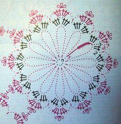 Obrazek Crochet Snowflake Pattern, Christmas Crochet Patterns, Crochet Christmas Ornaments, Crochet Snowflakes, Beaded Ornaments, Christmas Baubles, Holiday Ornaments, Crochet Doilies, Crochet Doll Dress