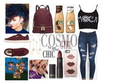 """Cosmo Girl"" by copperperro ❤ liked on Polyvore featuring Puma, Michael Kors, PERLOTA, Casetify, Lipstick Queen and Improvements"