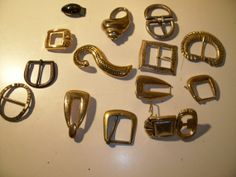 Vintage Buckles 14 pieces some signed by RustyandWoodSupplies, $13.00