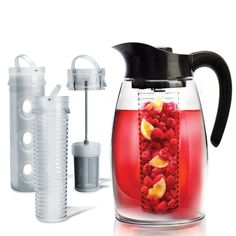 Flavor-It Infusion Pitcher: Make anything from iced tea to mojitos to regular water that's infused with lavender, fruit, or mint. Includes a tea infuser and fruit infuser, as well as a cooling core. $25.00
