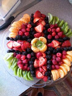 Easter cross fruit tray