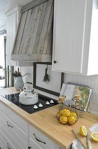 farmhouse kitchen remodel, design d cor, kitchens, Reclaimed wood vent hood