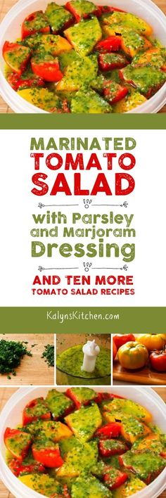 Marinated Tomato Salad with Parsley and Marjoram Dressing (and Ten More Tomato…