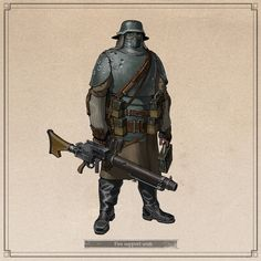 ArtStation - Squad 'Orchid', Ivan Yakushev Character Concept, Character Art, Steampunk Armor, Cthulhu, Fallout New Vegas, Pulp, Alternate History, Retro Futurism, Sci Fi Fantasy