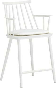 If this outdoor chair can withstand the weather it might be able to handle daily dining with my children. Union White Dining Arm Chair with Sunbrella® ...  sc 1 st  Pinterest & still love the urban chair at ikea. could be great patio dining ...