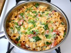 Creamy Sausage and Spinach Pasta Skillet-