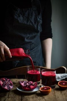 Detox Juice with Beetroot, Blood Orange and Pomegranate