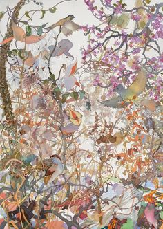 "Winter's End. Watercolor, 40"" x 30"". 2014."