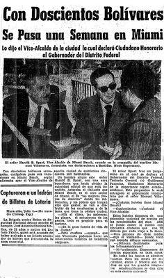 Con 200 bolívares se pana una semana en Miami. Publicado en julio de 1955.