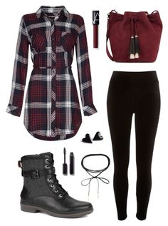 You can't go wrong with plaid and deep, rich colors in the cooler months. Combats like the UGG Kesey tie it all together. Bad Girl Outfits, Cute Outfits For School, Teenage Outfits, Cute Comfy Outfits, Edgy Outfits, Teen Fashion Outfits, Mode Outfits, Outfits For Teens, Pretty Outfits