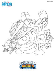 Gill Grunt Coloring Page From Skylanders Spyros Adventure More Content On Hellokids