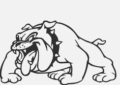 The major breeds of bulldogs are English bulldog, American bulldog, and French bulldog. The bulldog has a broad shoulder which matches with the head. Bulldog Clipart, Bulldog Cartoon, Bulldog Mascot, Bulldog Puppies, Bulldog Drawing, Cute Bulldogs, Mascot Design, You Draw, Easy Drawings