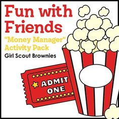 Girl Scout Brownies - Money Manager badge - Step 5 - Brownies learn to manage money wisely as they practice sticking to a budget while planning a night at the movies with friends.