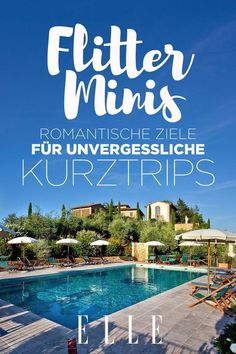 Die besten Kurztrips für romantische FlittertageEnchanting honeymoon minis: the best short trips for romantic honeymoon days No time for a honeymoon? Don't be sad, even short trips are highly romantic and unforgettable - nine suggestions that pr Hotel Europa, Romantic Honeymoon, Short Trip, Long Weekend, Foodie Travel, Travel Destinations, Beautiful Places, Road Trip, Places To Visit