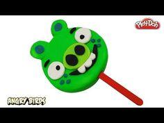Play Doh How to Make a Big Angry Birds Ice Cream Popsicle DIY! Bird Crafts, Play Doh, Angry Birds, Popsicles, Yoshi, Presents, Ice Cream, Rainbow, Animal