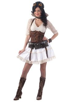 victorian steampunk clothing for women | Female Steampunk Costume - Womens Steampunk Costume Ideas