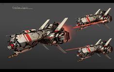 """Coalation Frigate Concept"" by Zhangx"
