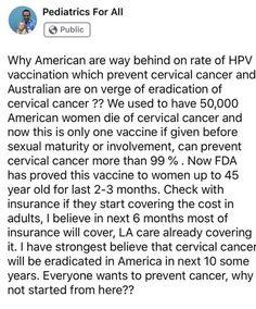 Cervical Cancer, American Women, Pediatrics
