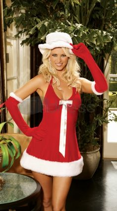 Christmas clothing ( hooded denim bow costumes )