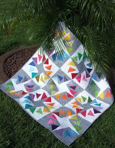 12-inch, foundation paper-pieced, Circle of Geese block. It's a free pattern you can download