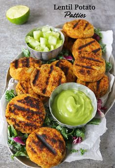 Easy Lentil Potato Patties (potatoes, red lentils) | savory spin